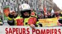 Manifestation de pompiers, le 5 décembre 2019 à Marseille