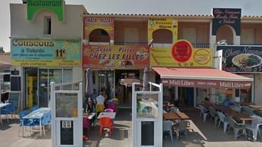 Le restaurant où s'est déroulé l'agression
