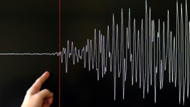 Un sismogramme (illustration).