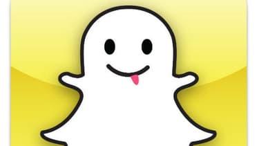 Le logo de l'application Snapchat, qui a été piratée le 31 décembre 2013