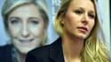 Marion Maréchal-Le Pen lors d'une conférence de presse le 20 janvier 2017.