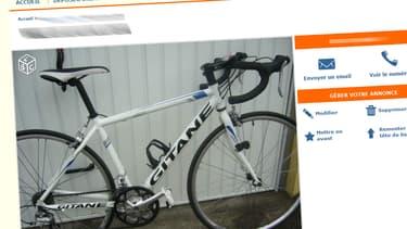 Deux hommes sont accusés d'avoir vendu environ 360 vélos volés sur le site Le Bon coin (illustration).