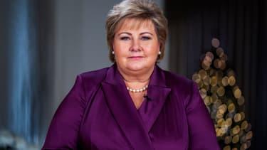 La Première ministre norvégienne Erna Solberg lors de son allocution du 31 décembre.