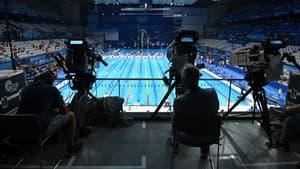 Des caméras dans la piscine olympique