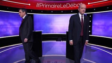 François Fillon et Alain Juppé, le 24 novembre 2016