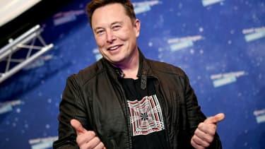 Le patron de Tesla et SpaceX Elon Musk, à Berlin le 1er décembre 2020 pour la cérémonie du prix Axel Springer Award