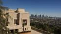 """Vue offerte sur Los Angeles par """"l'Ennis House"""""""