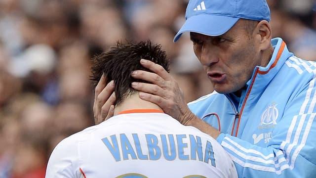 Elie Baup et Mathieu Valbuena