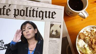 La candidate socialiste à la mairie de Paris Anne Hidalgo