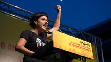 L'indépendantiste catalane Anna Gabriel