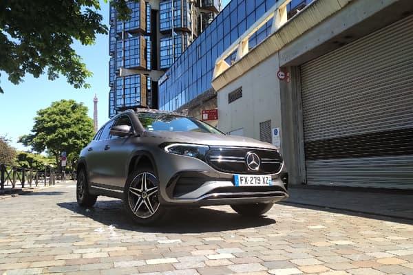 Notre modèle à l'essai: le Mercedes EQA AMG Line ici au tarif de 59.349 euros.