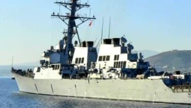 L'USS Mahan, 4e navire américain à croiser en Méditerranée.