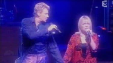 Johnny Hallyday et France Gall, le 15 août 2000, à L'Olympia à Paris