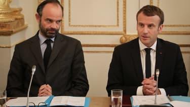 Edouard Philippe et Emmanuel Macron, en octobre 2017.