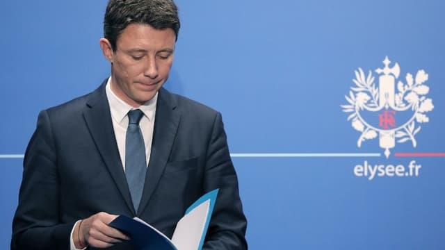 Le porte-parole du gouvernement Benjamin Griveaux à l'Elysée en mars 2018.