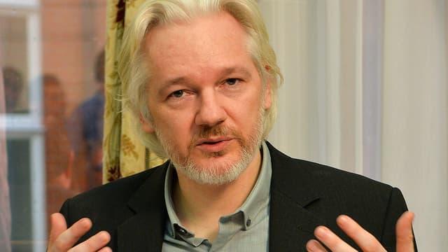Julian Assange, à l'ambassade d'Equateur à Londres, le 18 août 2014.