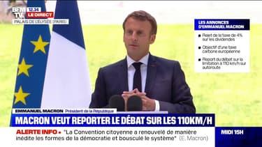 """Écologie: Emmanuel Macron est """"favorable"""" à la réécriture de l'article 1 de la Constitution"""