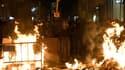 Des barricades enflammées à Barcelone, le 17 octobre 2019. (Photo d'illustration)