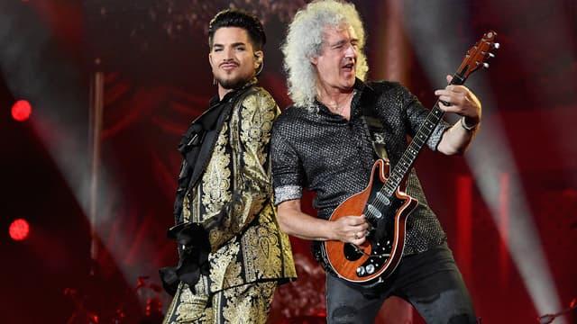 Adam Lambert et Brian May de Queen en 2019 à New York