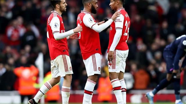 Des joueurs d'Arsenal