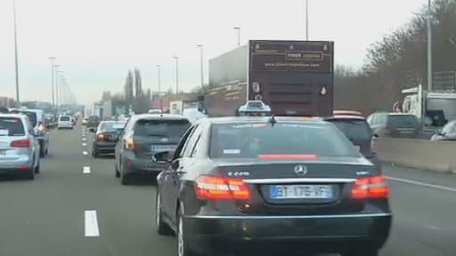 L'A1 a été très ralentie lundi dans la matinée.