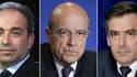 Jean-François Copé, Alain Juppé et François Fillon