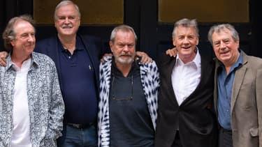 La bande des Monty Python: de gauche à droite, Eric Idle, John Cleese, Terry Gilliam, Michael Palin, et Terry Jones.