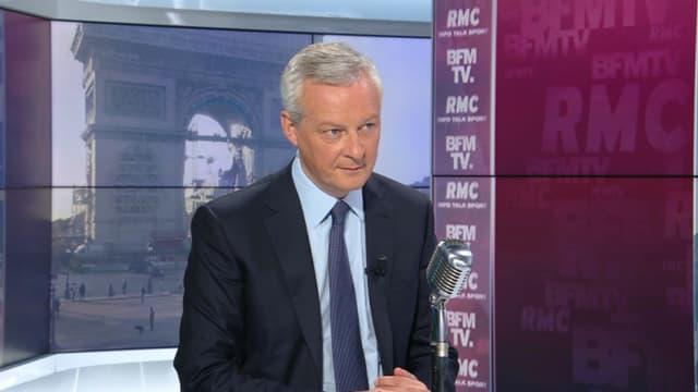 Bruno Le Maire invité sur BFMTV-RMC