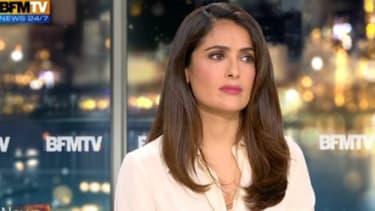 Salma Hayek dans l'émission News et Compagnie