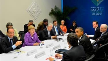 L'Europe a reçu mardi le soutien des dirigeants du G20 réunis au Mexique à son projet de jeter les bases d'une refonte de son système bancaire, dans l'optique de régler l'interminable crise de la dette souveraine. /Photo prise le 19 juin 2012/REUTERS/Prés