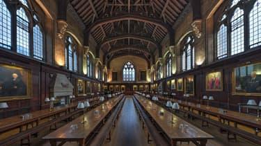 La salle à manger du collège Balliol à Oxford