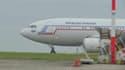 L'un des avions de rapatriement arrivé à l'aéroport Roissy-Charles-de-Gaulle