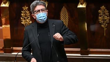 Le président du groupe parlementaire La France Insoumise Jean-Luc Melenchon à l'Assemblée nationale à Paris, le 24 novembre 2020
