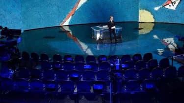 """L'émission italienne """"Che tempo che fa"""", diffusée sur Rai 3, enregistrée sans public."""