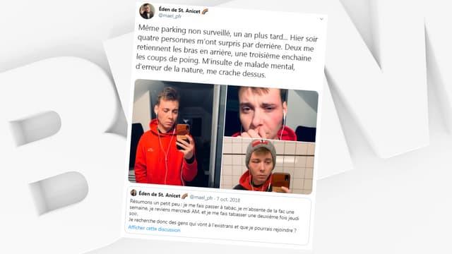 Le post de Maël sur Twitter.