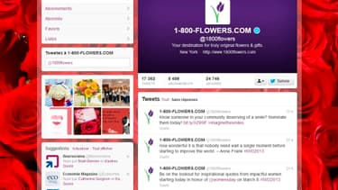 Le compte Twitter de 1800Flowers, le numéro un de la livraison de fleurs aux Etats-Unis, répond aux clients insatisfaits