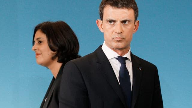 Myriam El Khomri et Manuel Valls, le 4 novembre 2015.