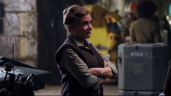"""Carrie Fisher dans """"Star Wars VII: le Réveil de la Force"""""""