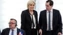 Nicolas Bay et Marine Le Pen au Parlement européen le 5 avril 2017.