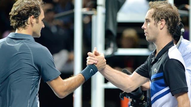 Roger Federer et Richard Gasquet