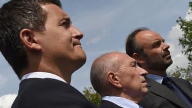Gérald Darmanin, le ministre des Comptes publics, Gérard Collomb, le ministre de l'Intérieur et Edouard Philipe, le Premier ministre