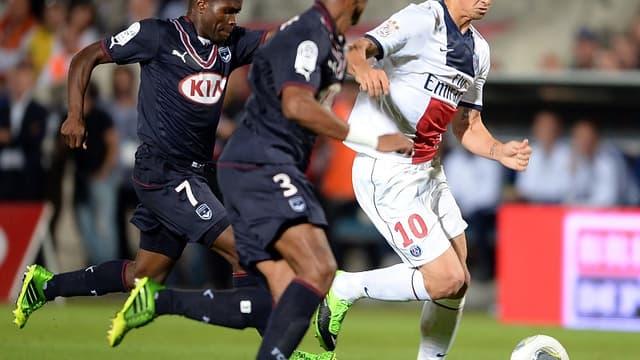 Zlatan Ibrahimovic à la lutte avec Landry Nguemo