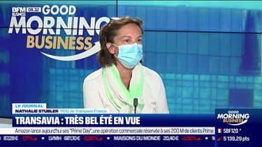 Nathalie Stubler, PDG de la compagnie aérienne Transavia France, était l'invitée ce lundi matin de Good Morning Business sur BFM Business.
