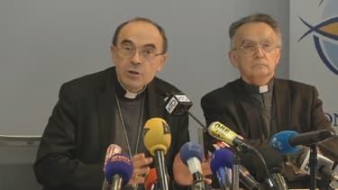 Le cardinal Barbarin a improvisé une conférence de presse le 15 mars