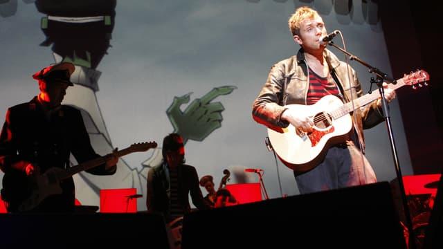 Damon Albarn et son groupe Gorillaz au Zénith de Paris en 2010.
