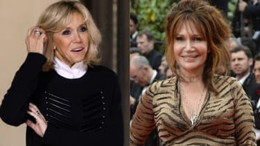 Brigitte Macron et Clémentine Célarié