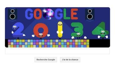 Google célèbre le passage à la nouvelle année avec un Doodle dansant.