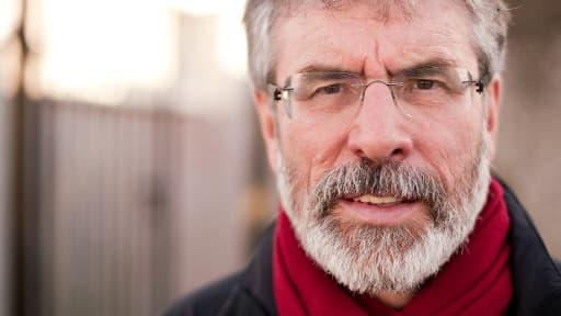 Le président du Sinn Fein Gerry Adams, ici le 23 février 2011, est en garde à vue depuis mercredi dans le cadre du meurtre d'une mère de famille en 1972.