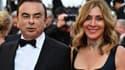 Carlos et Carole Ghosn au festival de Cannes, le 11 mai 2018.