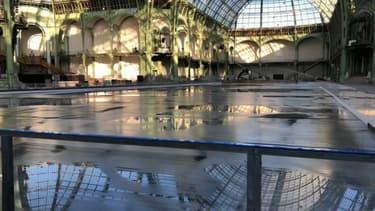 2.700 m2 de patinoire sont en cours de montage au Grand Palais.